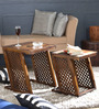 Marbella Set of Tables in Provincial Teak Finish by Woodsworth