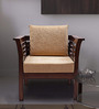 Mariana Teak Wood One Seater Sofa in Fresh Walnut Finish by Finesse