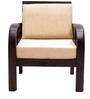 Mariana Teak Wood One Seater Sofa in Fresh Walnut Finish by Finesse