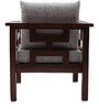 Mariana Teak Wood One Seater Sofa in Natural Teak Finish by Finesse