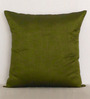 Marigold Moss Green Polyester Dupion 16 x 16 Inch Cushion Cover