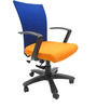 Marina Office Ergonomic Chair in Orange Colour by Chromecraft