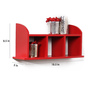 Mario Contemporary Wall Shelf in Red by CasaCraft