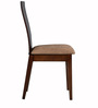 Marisa Dining Chair (Set of 2) in Light Cappuccino Finish by CasaCraft