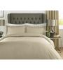 Mark Home Beige 100% Cotton King Size Bed Sheet - Set of 3