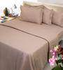 Mark Home Beige Cotton 4-piece Duvet Set