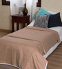 Mark Home Beige Cotton Solid 90 x 54 Inch Single Bed Dohar
