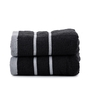 Mark Home Black Cotton 16 x 24 Hand Towel - Set of 2