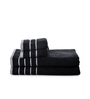 Mark Home Black Cotton Bath and Hand Towel - Set of 4