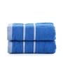 Mark Home Blue Cotton 16 x 24 Hand Towel - Set of 2
