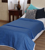 Mark Home Blue Cotton Solid 90 x 54 Inch Single Bed Dohar