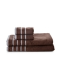 Mark Home Brown Cotton Simply Soft Bath and Hand Towel - Set of 4