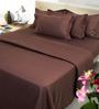 Mark Home Brown Cotton 4-piece Duvet Set