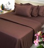 Mark Home Brown Solids Cotton Bed Sheet Single - Set of 4