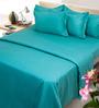 Mark Home Cyan Cotton 6-piece Duvet Set