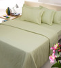 Mark Home Yellows Solids Cotton King Size Bed Sheets - Set of 3