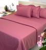 Mark Home Magenta Cotton 6-piece Duvet Set