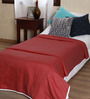 Mark Home Red Cotton Solid 90 x 54 Inch Single Bed Dohar