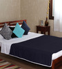 Mark Home Blue Cotton Solid 100 x 90 Inch Double Bed Dohar