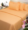 Mark Home Simply Orange Cotton Bed Sheet