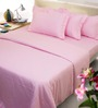 Mark Home Classy Pink Cotton Bed Sheet