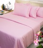 Mark Home Baby Pink Cotton Bed Sheet Set