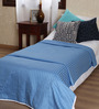 Mark Home Royal Blue Cotton Solid 90 x 54 Inch Single Bed Dohar