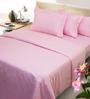 Mark Home Pink Cotton 4-piece Duvet Set