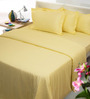Mark Home Yellows Solids Cotton Queen Size Bedding - Set of 6