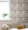 Marshalls Wallcoverings Beige Non Woven Fabric Locker Print Wallpaper