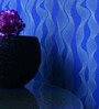 Marshalls Wallcoverings Blue & White Non Woven Fabric Wallpaper