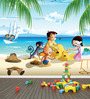 Marshalls Wallcoverings Multicolor Non Woven Fabric Chota Bheem Wallpaper