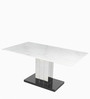 Marvel Six Seater Dining Table in White Colour by Godrej Interio