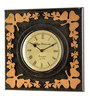 Marwar Stores Black & Beige MDF 12 x 2 x 12 Inch Square Shaped Wall Clock