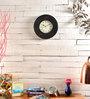 Marwar Stores Black MDF 12 Inch Round Wall Clock