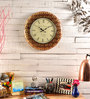 Marwar Stores Brown MDF 18 Inch Round Wall Clock