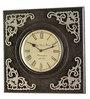 Marwar Stores Grey & Black MDF 12 x 2 x 12 Inch Square Shaped Wall Clock