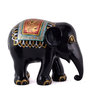 Marwar Stores Multicolour Polyresin Painted Elephant Statue