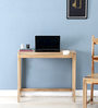 Trego Study & Laptop Table in Natural Sheesham Wood Finish by Woodsworth