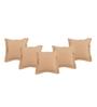 Maspar Beige Viscose 18 x 18 Inch Solid Cushion Covers - Set of 5