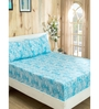 Inhouse By Maspar Circumvent Blue Printed 1 Double Bed Sheet With 2 Pillow Covers