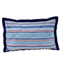 Maspar Blue Cotton Tufted Pillow Set