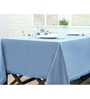 Maspar Blue Cotton Solid 84 x 60 Inch Table Cloth