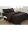 Maspar Brown 100% Cotton Single Size Bed Sheet - Set of 2