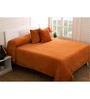 Maspar Orange 100% Cotton Queen Size Bed Cover