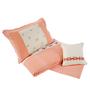 Maspar Peach Cotton Stripes and Checks 4-piece Baby Bed Set