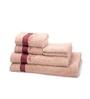 Maspar Red 100% Cotton Bath, Hand and Face Towel - Set of 6