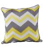 Maspar Yellow & Grey Cotton 16 x 16 Inch Geometric Pattern Cushion Cover
