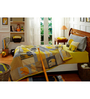 Maspar Yellow Cotton Stripes and Checks 4-piece Baby Bed Set