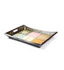MasterCrafts Multicolor MDF Heena Painted Boat Tray - Set of 2